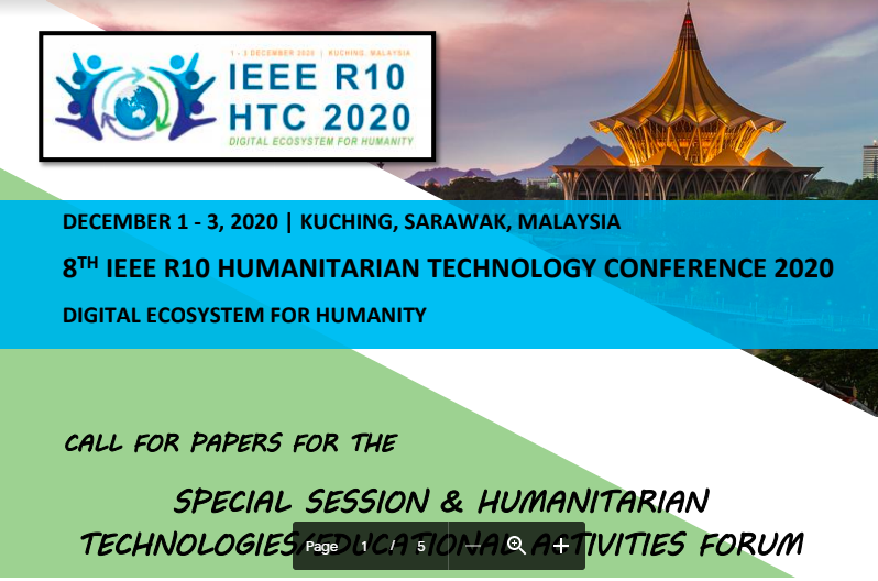 8th IEEE Region 10 Humanitarian Technology Conference (R10HTC2020)