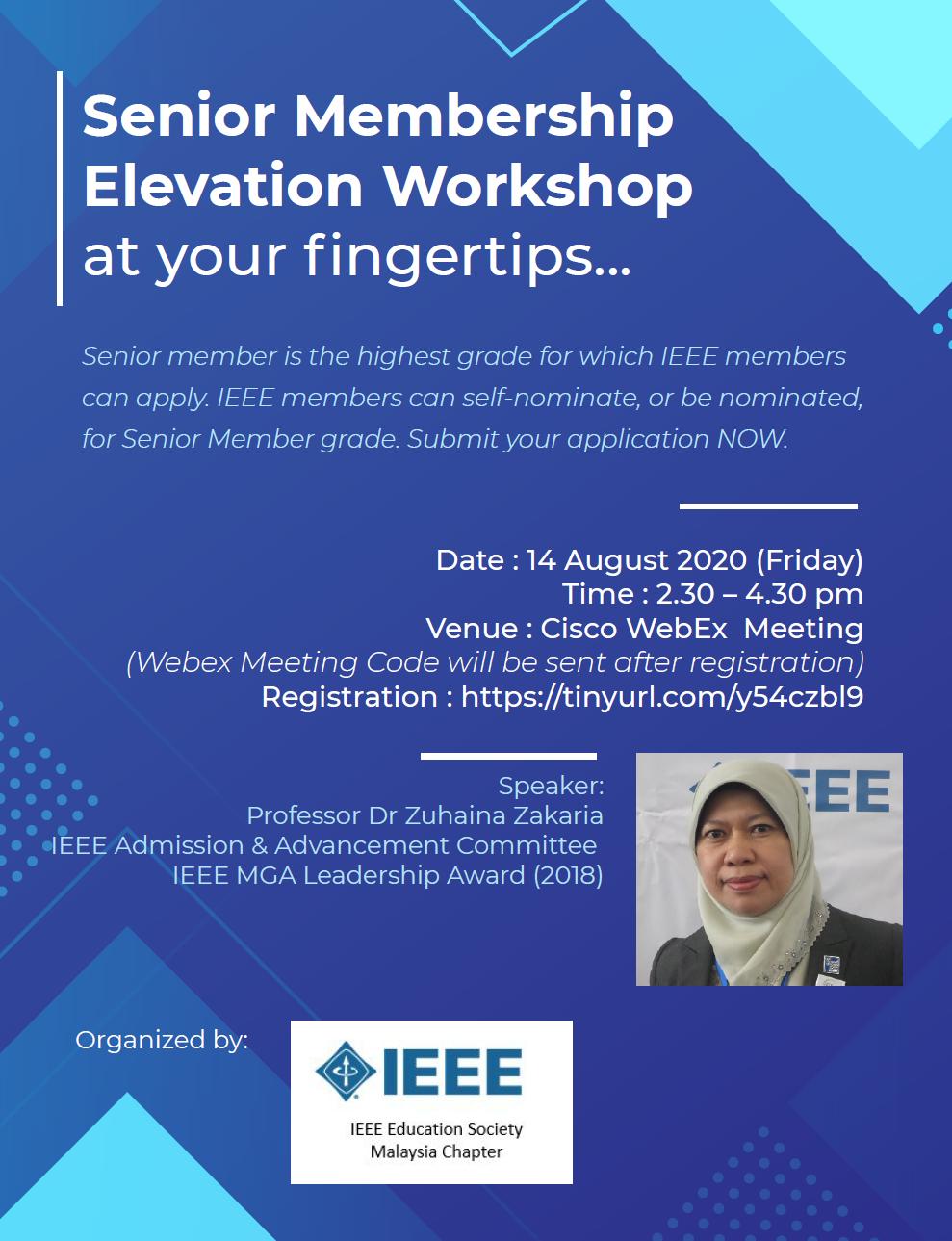IEEE SENIOR MEMBER ELEVATION WORKSHOP