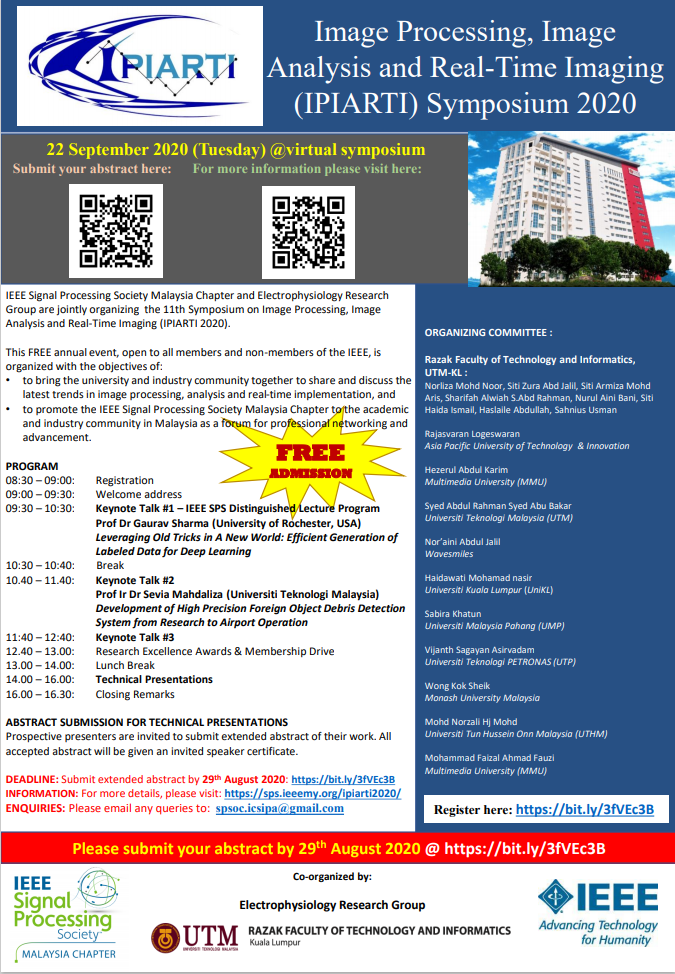 Virtual IPIARTI 2020 – Free event & Call for Abstracts
