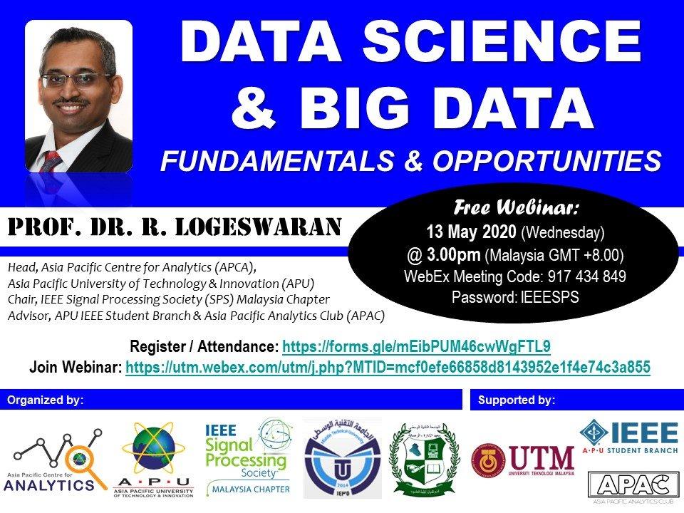 Webinar on Data Science & Big Data