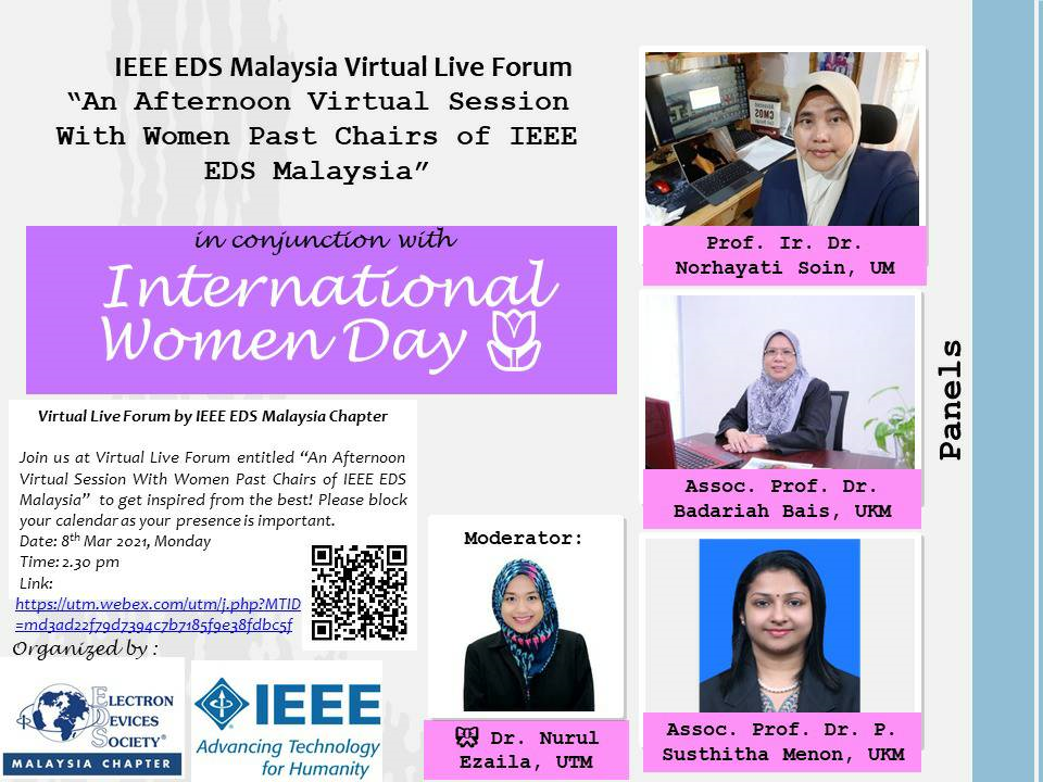 An Afternoon Virtual Session With Women Past Chairs of IEEE EDS Malaysia
