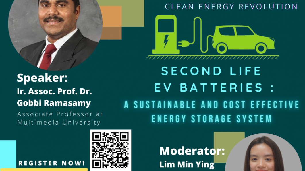 IEEE PES Day 2021 Talk – Second Life EV Batteries  : A Sustainable and Cost Effective Energy Storage System